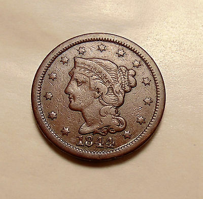 1844 Braided Hair Large Cent - Better Date - Nice Looking Coin