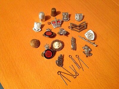 Vintage Badges/Brooches and Other Items. Job Lot.