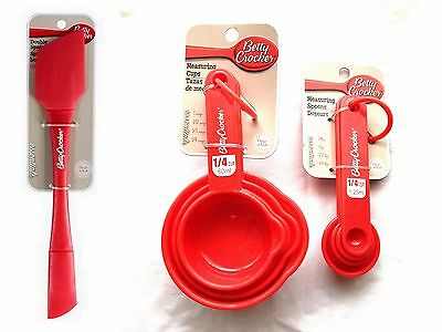 Betty Crocker Measuring Cups & Spoons Set Double Spatula Baking Cooking Kitchen