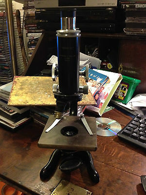 1940's Antique W. WATSON & Sons Microscope With Case