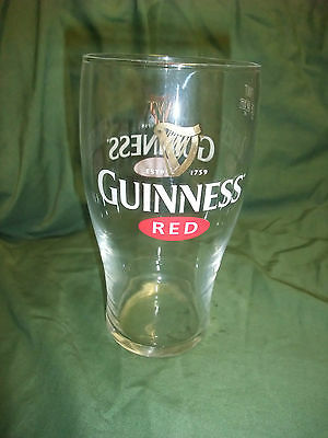 Guinness RED  Pint Glass,  Stout Irish Pub Item from Ireland, Excellent ITEM