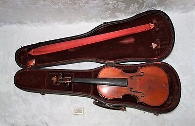 Antique Turn of the Century Violin Signed Rex Gretsch in Original Case 4/4