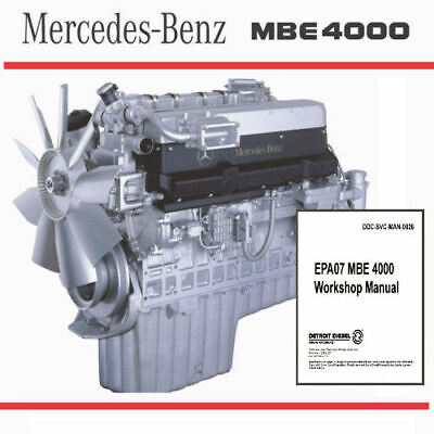 DETROIT DIESEL MBE 4000 EPA98/04 Engine Service Repair Manual CD ROM ...