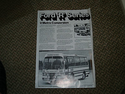 Ford R Series 9 Metre Conversion Coach Leaflet.