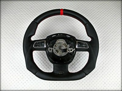 _ AUDI RS S line A4 A5 A6 A8 S Sline Flat Thick Thumbs STEERING WHEEL