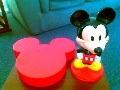 Vintage Disney Mickey Mouse Bobble Head And Candy Box From Walt Disney Resort !