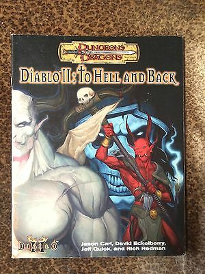 Diablo II - To Hell and Back - AD&D adventure book! Rare OOP