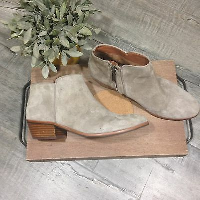 a4bfe5f09f006f Sam Edelman Women s Tan Suede Petty Ankle Boots Booties Zipper Size 7.5 M
