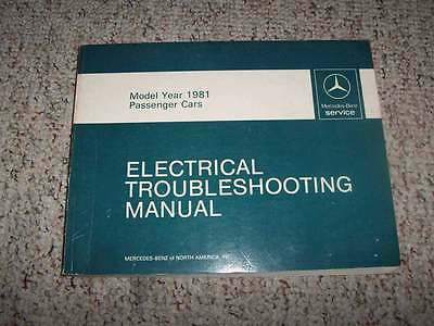 1981 mercedes benz 300d 300 d electrical wiring diagram troubleshooting  manual