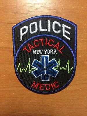 PATCH POLICE NEW YORK CITY NYPD -.TACTICAL MEDIC - NY state