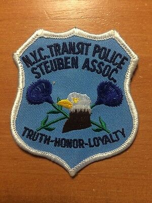 PATCH POLICE NEW YORK CITY NYPD NYC-.TRANSIT STEUBEN ASSOC. - NY state