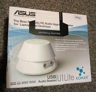 Asus - Xonar U1 Lite White USB Audio Station