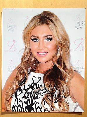 lauren goodger towie    10x8 PHOTO HAND SIGNED AUTOGRAPH