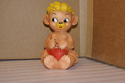 """Vintage Dee and Cee Punkinhead Squeak Toy Squeaky 9"""" Tall"""