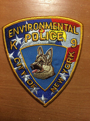PATCH POLICE NEW YORK CITY NYPD NYC - K9 CANINE ENVIRONMENTAL - NY state