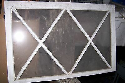 Antique Diamond Window Cabinet Door Shabby Cottage Chic Architectural Salvage