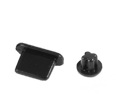 Charger Dock Lighting + Earphone Jack Anti Dust Plug for iPhone 6 6s 5s Black