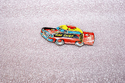 Vintage 1950's Tin Lithograph Fire Chief Whistle Japan Red
