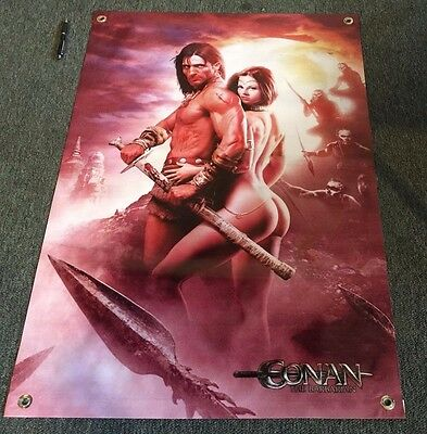Conan Barbarian Movie Banner Action Figure Film Poster Sword Warrior Toy Game