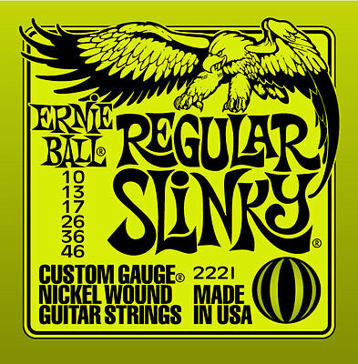 Ernie Ball 2221 Electric Guitar Strings Slinky Regular .010-.046