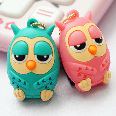 Doll Earphone Jack Anti Dust Plug Smart Phones 3.5mm Cozy and Friendly Owl Pink