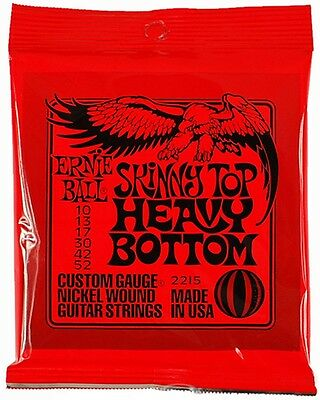 Ernie Ball 2215 Skinny Top Heavy Bottom Electric Guitar Strings Slinky 10-52