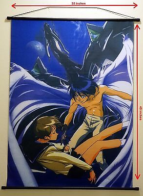 "Escaflowne Wall Scroll Cloth Fabric approx 32"" x 40"""