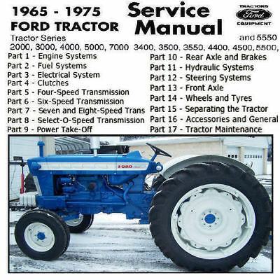 Ford Tractor 2000 3000 4000 5000 7000 3400 3500 3550 4400 4500 5500 5550 Manual