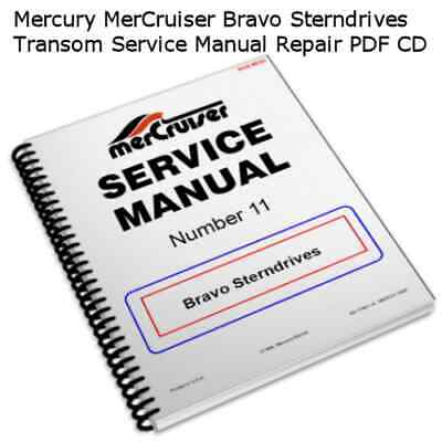 Mercury MerCruiser Bravo Sterndrives Service Manual Shop Repair PDF CD ** Nice**