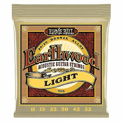 Ernie Ball Earthward 2004 Acoustic Guitar Strings 80/20 BRONZE ALLOY Light 11-52