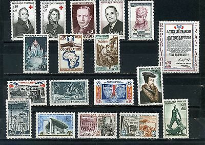 France 1964 Year Set Of 18 Stamps Mnh