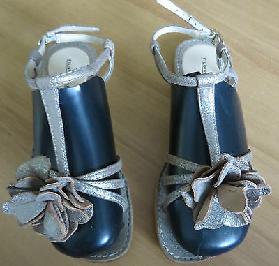 Filippo Raphael Silver Flat Leather Sandals In Ec Size 36