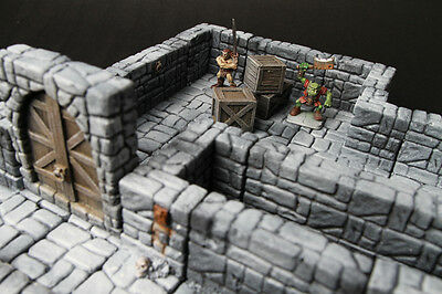 Modular dungeon terrain 21 pieces for dongeon dragon, d&d, warhammer,40k, rpg