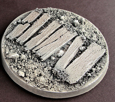6x60mm  trench base for 28mm wargame like 40k,at-43,dust