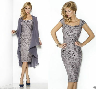 Size 6-26 Free Chiffon Coat Lace Dresses Mother of The Bride/Groom Gowns Outfits