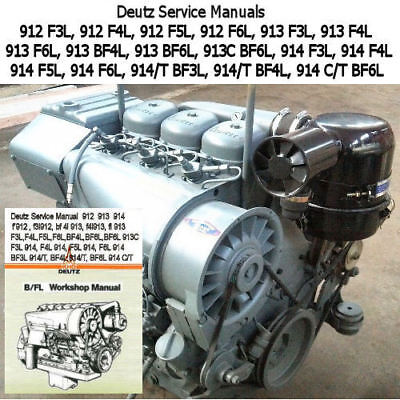 Deutz 912 913 914 Service Manual 3,4,6 Cylinder Repair Workshop PDF CD  *Nice*