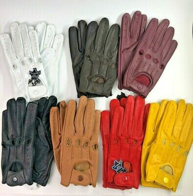Genuine Leather Women Ladies Girls Unlined Driving Gloves Snug Fit