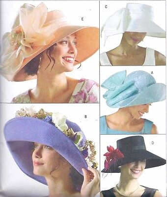 NEW Women's Wide Brim HAT Sewing Pattern Millinery UNCUT Spring Summer Easter