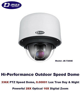 336X Outdoor True Day/Night D-Max WDR High Speed PTZ Camera/0.00001 Lux/NEW!!