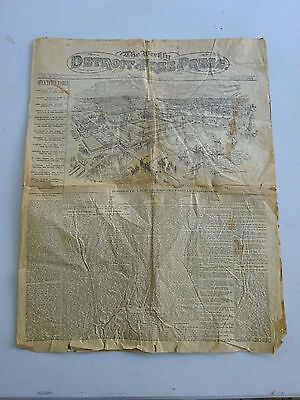 May 4, 1893 Detroit Newspaper, Opening Chicago Columbian Exhibition Worlds Fair