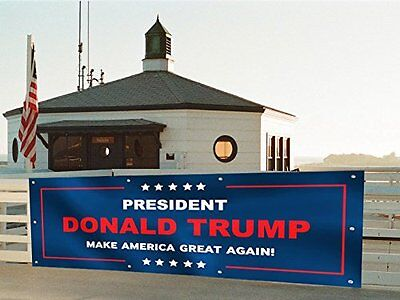 Donald Trump President 3x8' USA American Banner Flag Yard Wall Durable Polyester