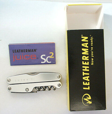 Leatherman Juice SC2 Silver- New in Box, retired, rare, collectible.