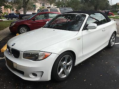 2012 BMW 1-Series Convertible 2012 BMW 128i Convertible White EXCELLENT CONDITION!!! RED LEATHER INTERIOR