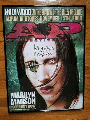 Marilyn Manson Framed Autographed Holy Wood Promo Store Poster