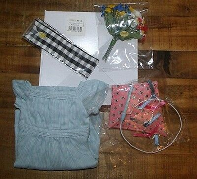 American Girl ADDY Flower Picking DRESS & BOUQUET OUTFIT ~ BNIB ~ & New KITE !!!