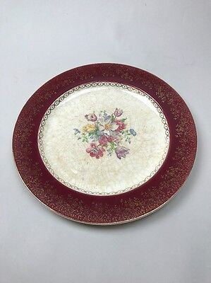 """Vintage The French Saxon China Co Sebring OH usa 11 3/4"""" plate set of 5"""