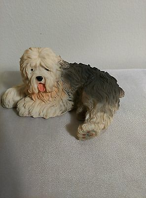 "Old English Sheepdog Figurine, 3"" to 4"", New, Hand Painted"
