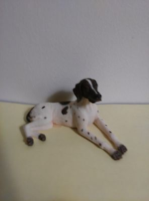 "ENGLISH POINTER Dog Figurine, 3"" to 4"", Hand Painted"