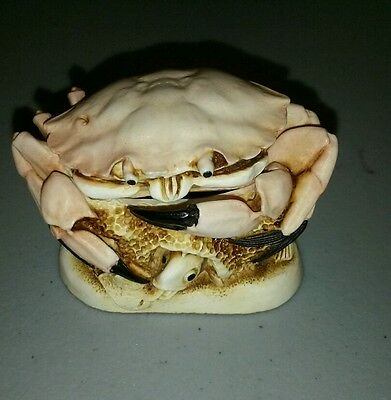 "Resin Harmony Kingdom Crab Trinket Box   ""Brean Sands"" Crab 1996"