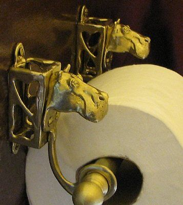HIPPO, HIPPOPOTAMUS Bronze Toilet Paper Holder OR Paper Towel Holder!